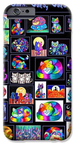 Catscatscats IPhone Case by Nick Gustafson