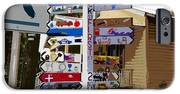 Cedar Key Directional IPhone Case by David Lee Thompson