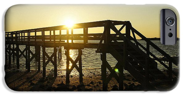 Cedar Key Sunset IPhone Case by Laurie Perry