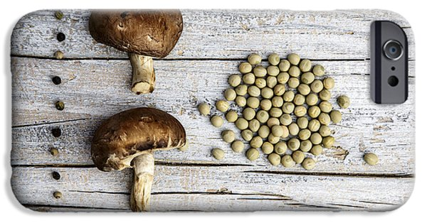 Champignons, Peas And Pepper IPhone Case by Nailia Schwarz