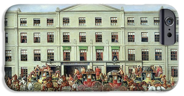Changing Horses Outside The Plough Inn IPhone Case by JC Maggs