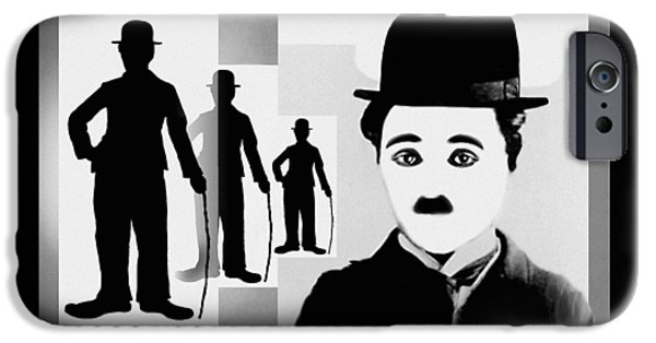 Chaplin, Charlie Chaplin IPhone Case by Hartmut Jager
