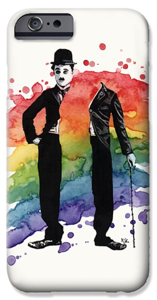 Chaplin IPhone Case by Kelly Jade King