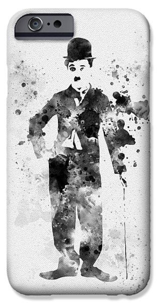 Charlie Chaplin IPhone Case by Rebecca Jenkins