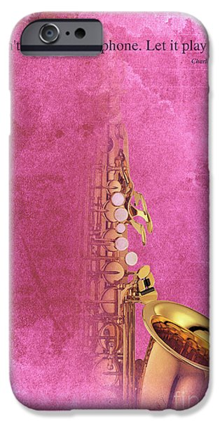 Charlie Parker Saxophone Light Red Vintage Poster And Quote, Gift For Musicians IPhone 6s Case by Pablo Franchi