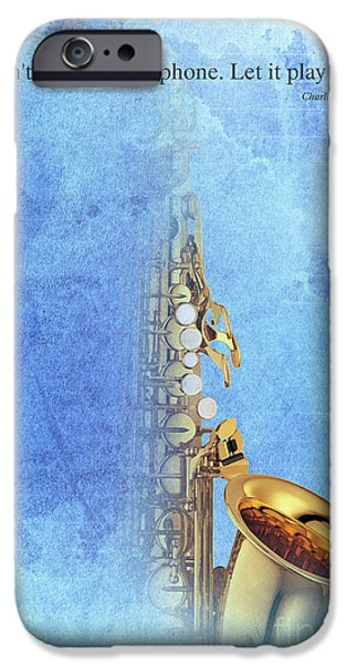 Charlie Parker Saxophone Vintage Poster And Quote, Gift For Musicians IPhone 6s Case by Pablo Franchi