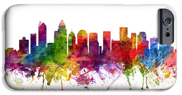 Charlotte Cityscape 06 IPhone Case by Aged Pixel