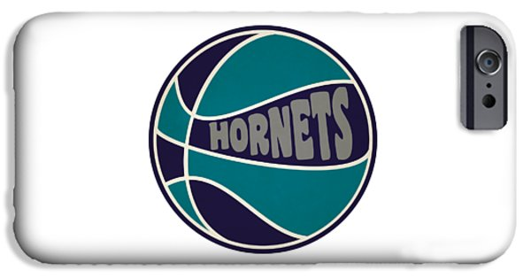 Charlotte Hornets Retro Shirt IPhone Case by Joe Hamilton