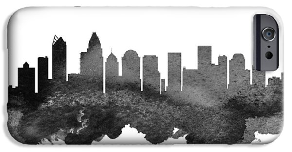 Charlotte North Carolina Skyline 18 IPhone Case by Aged Pixel