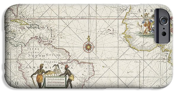 Chart Of The Atlantic Ocean IPhone Case by English School
