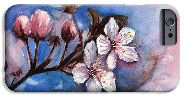 Cherry Blossoms  IPhone Case by Olga Shvartsur