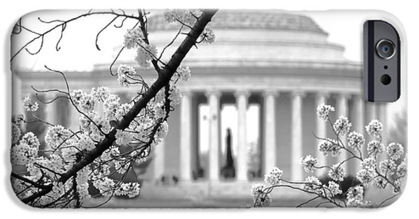 Cherry Tree And Jefferson Memorial Elegance  IPhone 6s Case by Olivier Le Queinec