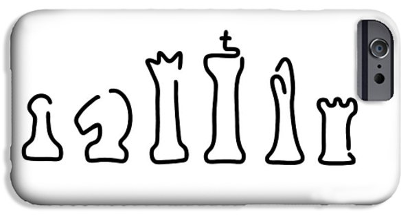 Chess Figures IPhone Case by Lineamentum