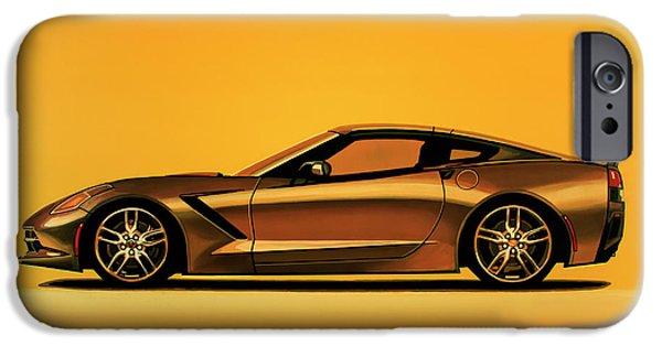Chevrolet Corvette Stingray 2013 Painting IPhone Case by Paul Meijering