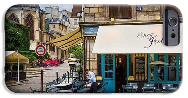 Chez Julien IPhone Case by Inge Johnsson