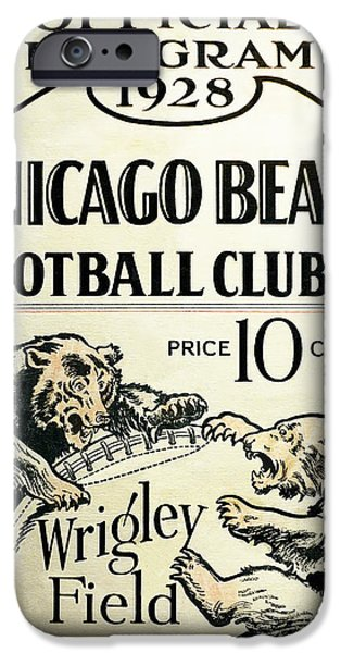 Chicago Bears Football Club Program Cover 1928 IPhone Case by Daniel Hagerman