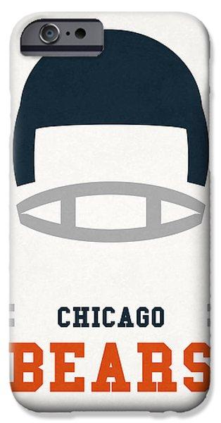 Chicago Bears Vintage Art IPhone 6s Case by Joe Hamilton