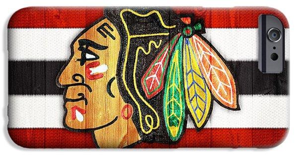 Chicago Blackhawks Barn Door IPhone 6s Case by Dan Sproul