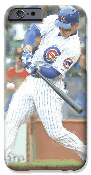 Chicago Cubs Anthony Rizzo IPhone Case by Joe Hamilton