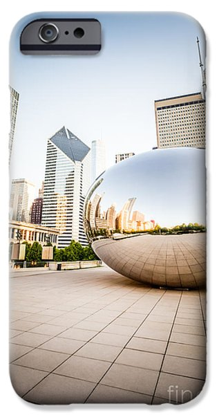 Chicago Gloud Gate And Chicago Skyline Photo IPhone Case by Paul Velgos
