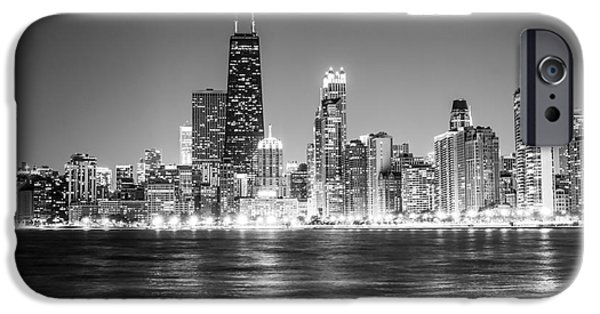 Chicago Lakefront Skyline Black And White Photo IPhone 6s Case by Paul Velgos