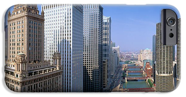 Chicago River, Aerial Shot, Illinois IPhone Case by Panoramic Images