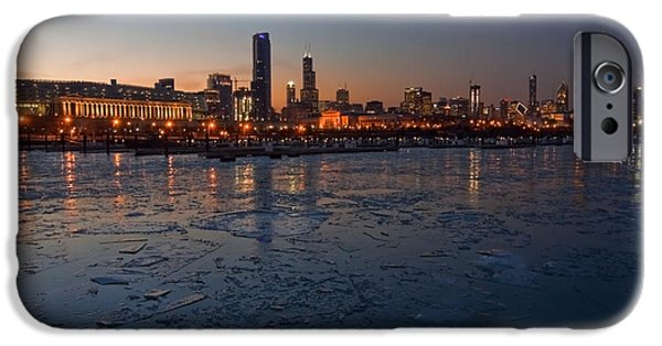 Chicago Skyline At Dusk IPhone Case by Sven Brogren