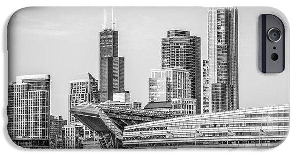 Chicago Skyline With Soldier Field And Willis Tower  IPhone 6s Case by Paul Velgos