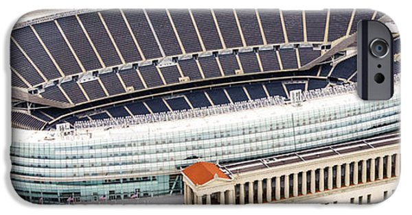 Chicago Soldier Field Aerial Photo IPhone 6s Case by Paul Velgos