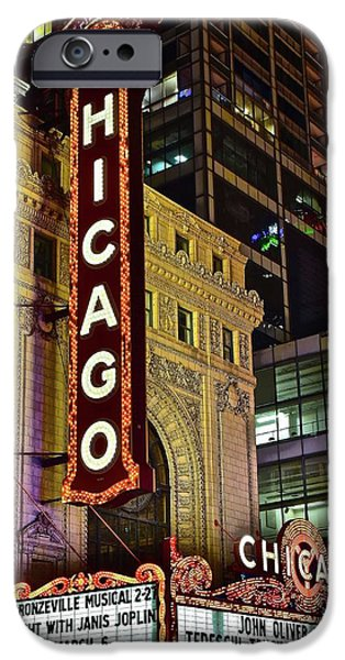 Chicago Theater Aglow IPhone 6s Case by Frozen in Time Fine Art Photography