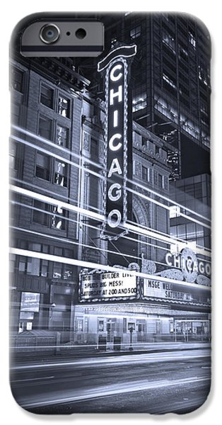 Chicago Theater Marquee B And W IPhone 6s Case by Steve Gadomski