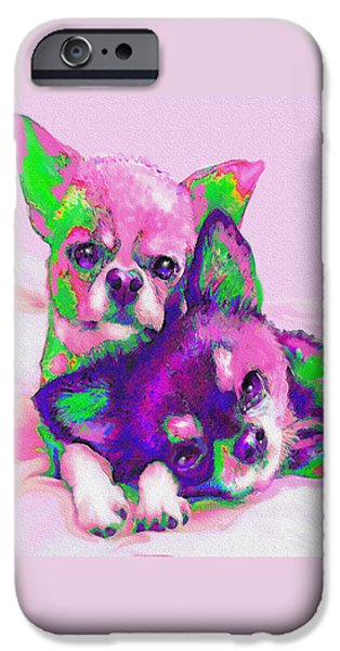 Chihuahua Love IPhone Case by Jane Schnetlage