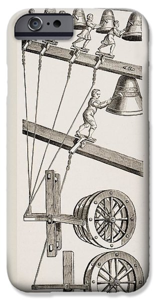 Chimes Of The Clock Of St. Lambert In IPhone Case by Vintage Design Pics