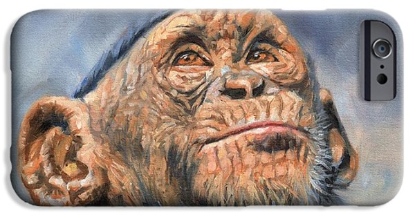 Chimp IPhone 6s Case by David Stribbling