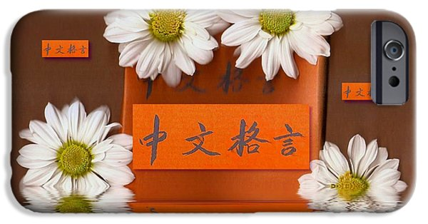 Chinese Wisedom Words IPhone Case by Pepita Selles
