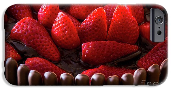Chocolate And Strawberry Cake IPhone Case by Carlos Caetano