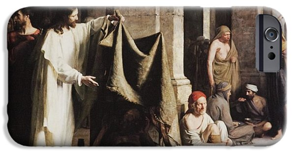 Christ Healing The Sick At The Pool Of Bethesda IPhone Case by Carl Heinrich Bloch