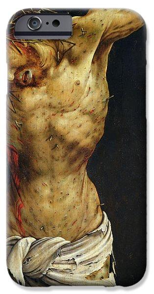 Christ On The Cross IPhone Case by Matthias Grunewald