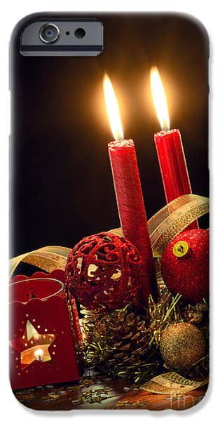 Christmas Decorations IPhone Case by Carlos Caetano