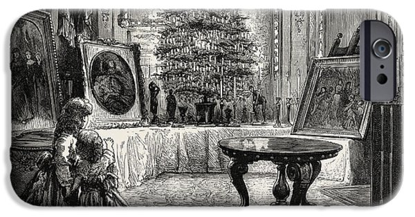 Christmas Eve At Windsor Castle IPhone Case by English School