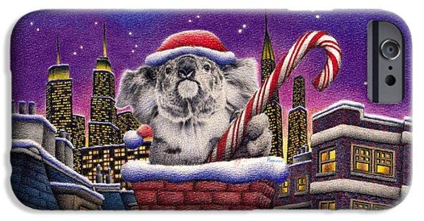 Christmas Koala In Chimney IPhone 6s Case by Remrov