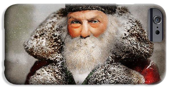 Christmas - Santa - Saint Nicholas 1895 IPhone Case by Mike Savad