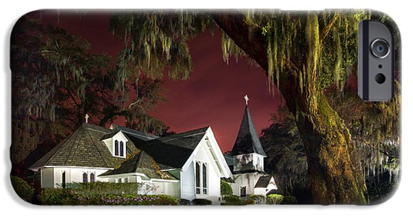 Christ's Church At Sunset IPhone Case by Debra and Dave Vanderlaan