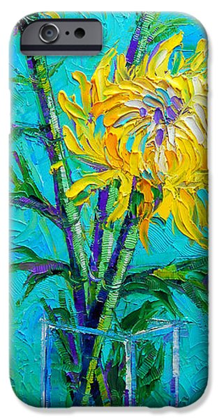 Chrysanthemums In A Vase IPhone Case by Mona Edulesco