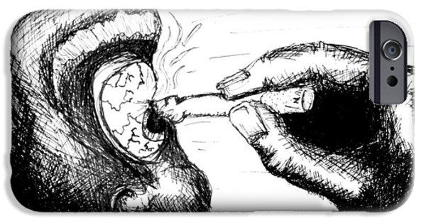 Cigarette Burn IPhone Case by Jera Sky