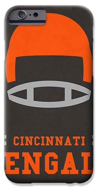 Cincinnati Bengals Vintage Art IPhone 6s Case by Joe Hamilton