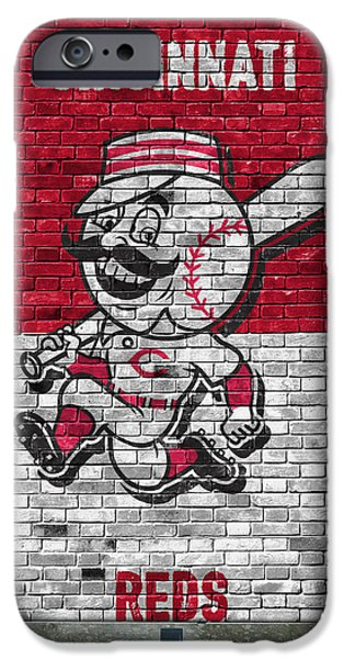 Cincinnati Reds Brick Wall IPhone Case by Joe Hamilton
