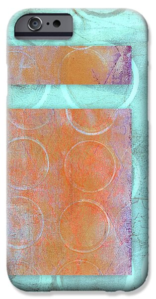 Circles And Rectangles Abstract  IPhone Case by Carol Leigh