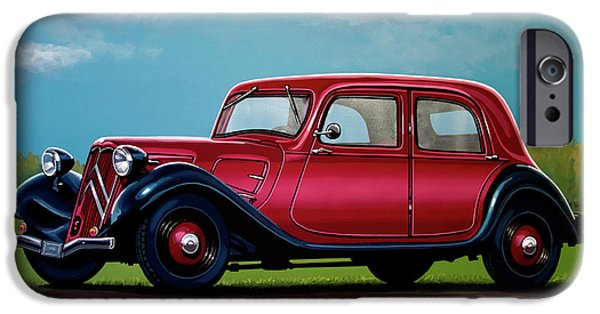 Citroen Traction Avant 1934 Painting IPhone Case by Paul Meijering