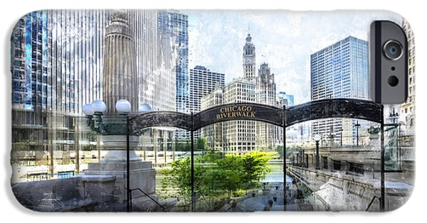 City-art Chicago Downtown I IPhone Case by Melanie Viola
